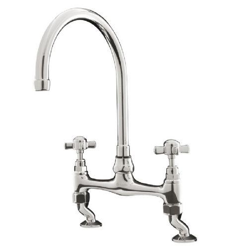 Caple Buckingham Chrome Bridge Mixer Kitchen Tap
